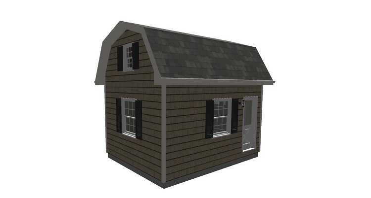 Barn shed plans with loft 12 39 x 16 39 for Shed designs with loft