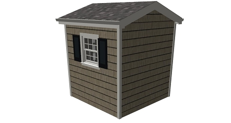 Tool shed plans 8 39 x 8 39 for Tool shed plans