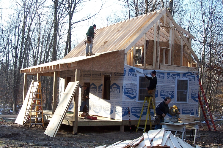 ... additionally Adirondack Cabin Plans With Loft. on loft log home plans