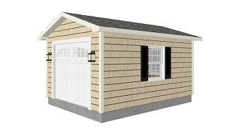 Lawn Garden Shed Plans 12'x16'