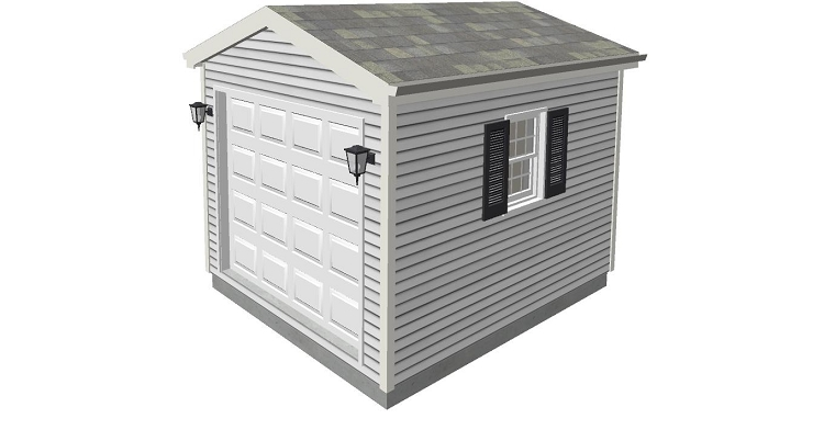 Tool shed plans 10 39 x 12 39 for Equipment shed plans free