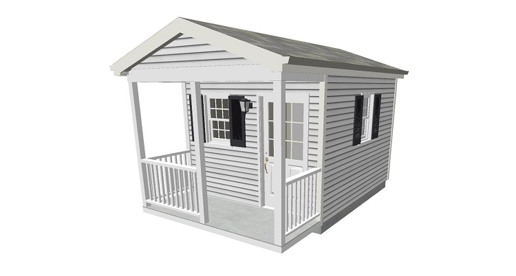Organizer 10x12 shed with porch for Tool shed plans