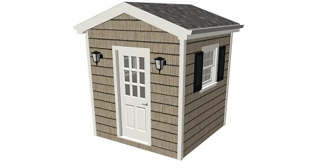 Tool Shed Plans 8' x 8'