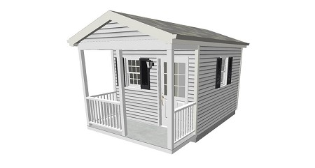 Tool Shed Plans with Porch 10' x 12'